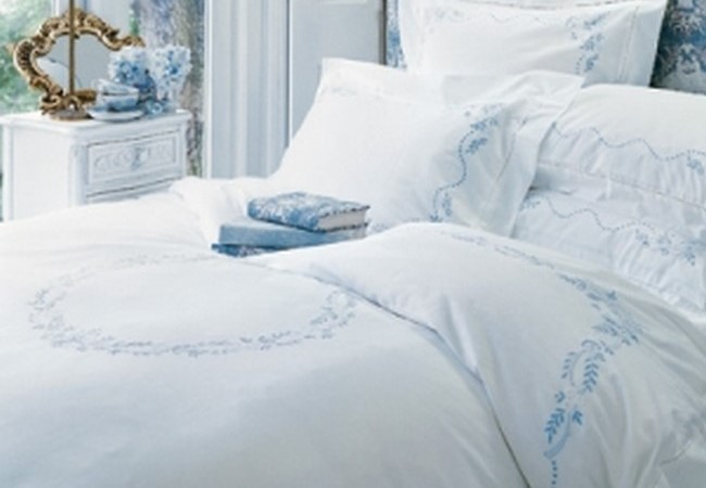 hand enbroidery bed sheet