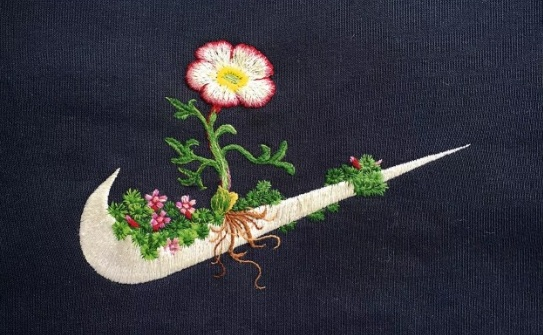 Embroidery is making a comeback