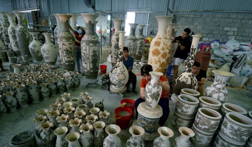 Traditional craftvillage in Vietnam