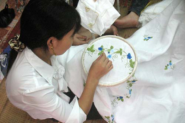 Thanh Ha in embroideryviet was one of the first people to see profit in his local craft