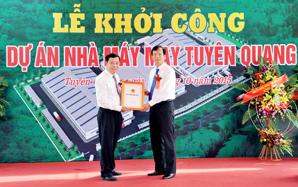 Project in Tuyen Quang expected to be completed by 2017 and seize opportunities from TPP