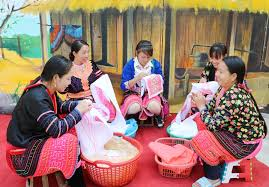 Textile or Brocade is a famous product of the ethnic minorities in NorthWest Vietnam.