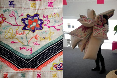 HAND EMBROIDERED WORLD BY THAI WOMEN IN QUY CHAU