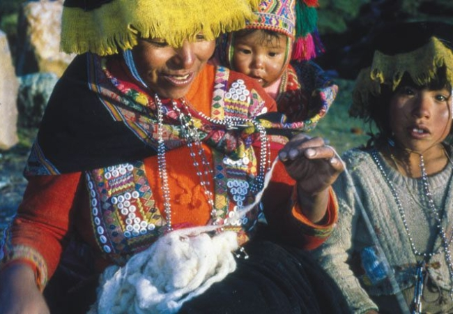 Peruvian Andes, Life Stories Are Written in Textiles