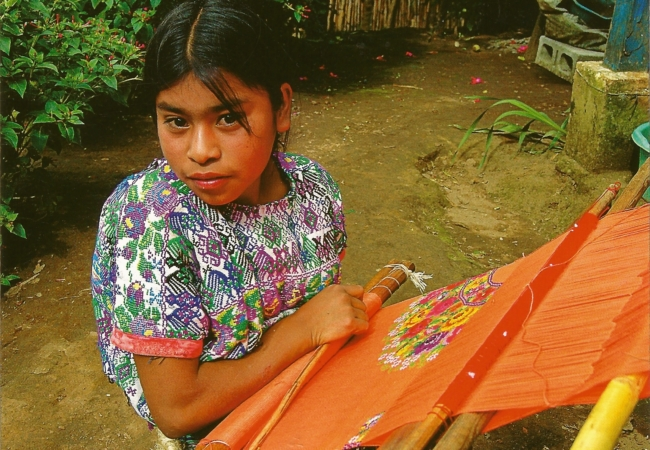 Mayan women in Guatemala create garments that are made from two kinds of handwork – weaving and embroidery